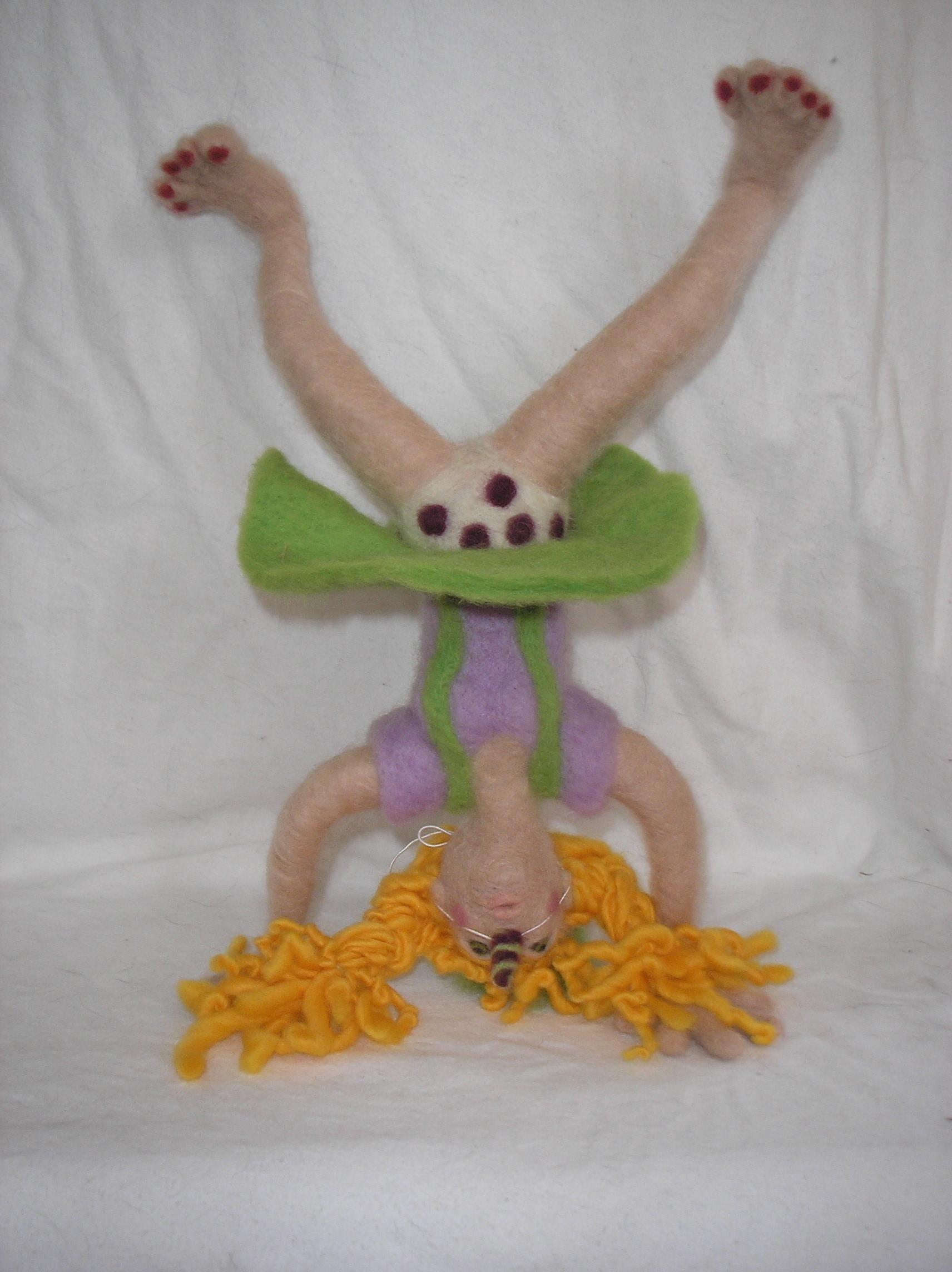 felting contest. doll.
