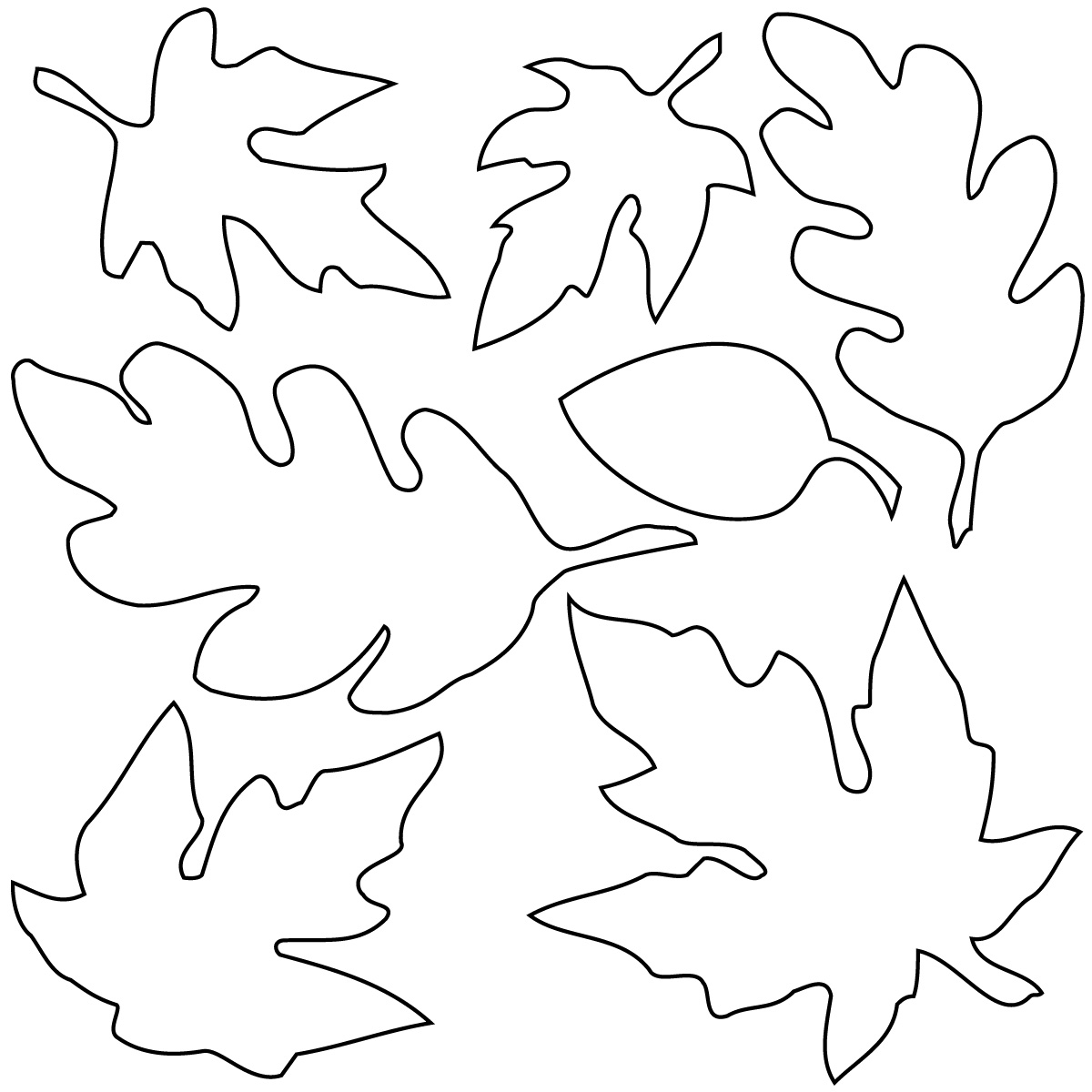 Coloring Pages - Free Fall Leaf Pages for Kids to Color - School